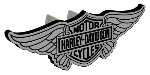 Harley-Davidson® Bar & Shield Winged Hitch Plug, 1-1/4 In and 2-In Brackets P2250
