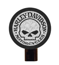 Harley-Davidson® Art Glass Night Light, Willie G. Skull Logo Nite Lite HD-WGS-246