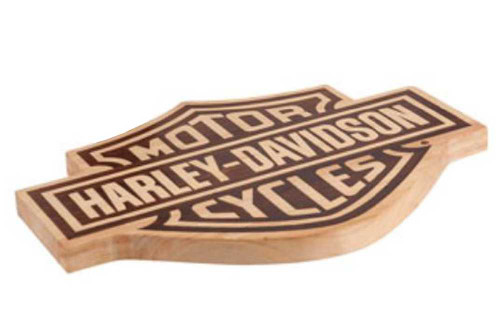 Harley-Davidson® Bar & Shield Wood Cutting Board HDL-18520
