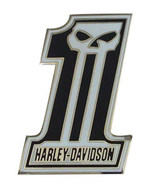 Harley-Davidson® #1 Skull Black & Silver Pin P718883