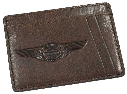 Harley-Davidson® 110th Anniversary Front Pocket Wallet Leather AM1198L-Brown - A