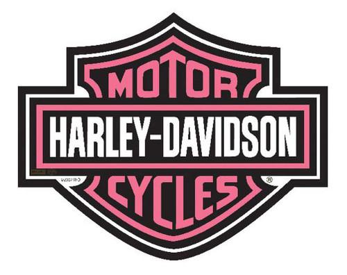 Harley-Davidson® Bar & Shield Cut Out Pink Mouse Pad. MO30207