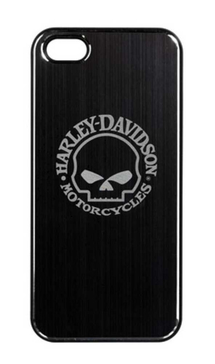 Harley-Davidson® Aluminum iPhone 5/5s Shell Etched Willie G. Skull Black 07453 - A