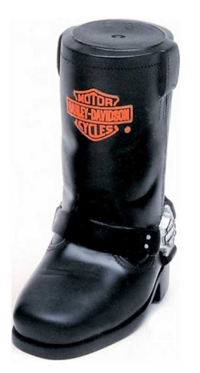 Harley-Davidson® Bar & Shield Cowboy Boot Squeaker Pet Toy Vinyl H8200-H-V00DOG