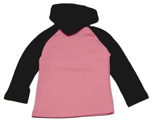 Harley-Davidson® Big Girls' Fleece Pullover, Little Rebel PK/BLK Hoodie 3241318 - A