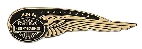 Harley-Davidson® 110th Anniversary Winged Tank Badge Pin Limited Edition HDBCB226 - A