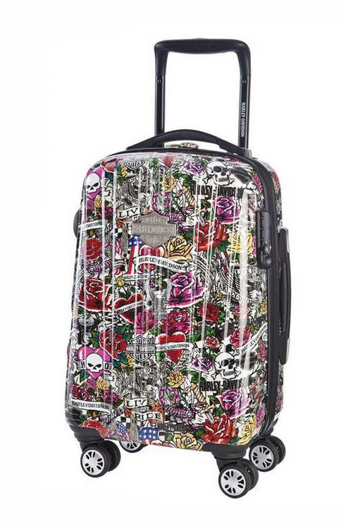 Harley-Davidson® 21 Inch Carry-On, Light Weight Wheeled, Tattoo Print 99922-TAT - A