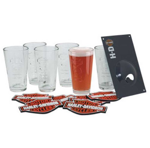 Harley-Davidson® Bar & Shield Embossed Pint Glass Set HDL-18720 - D