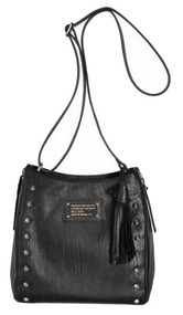 Harley-Davidson® Women's All Bark Crossbody Purse Black Leather AB7747L-Black
