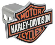 Harley-Davidson® Orange Bar & Shield Trailer Hitch Cover 2'' HDHC25
