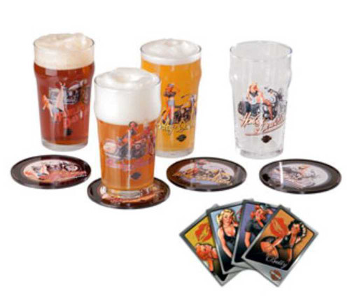 Harley-Davidson® American Beauty Pub Glass Gift Set HDL-18718 - C