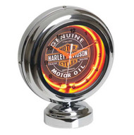 Harley-Davidson® Genuine Oil Can Table Top Neon Clock HDL-16621 - A