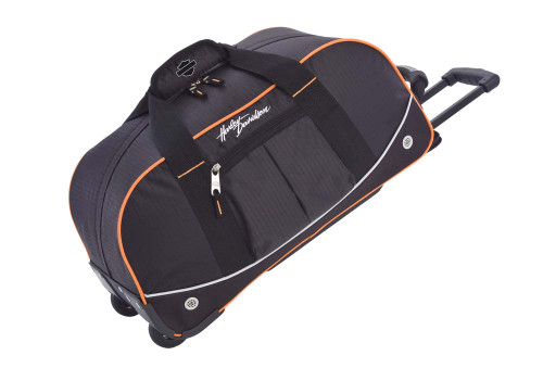 Harley-Davidson® 21'' Wheeling Packaged Duffel, Black/Orange 99611