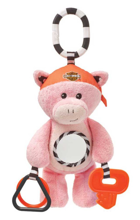 Harley-Davidson® Baby's Developmental Stuffed Animal Hog, Pink 20352