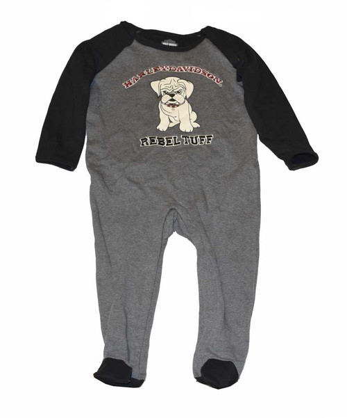 Harley-Davidson® Baby Boys' Footie Fleece Coverall, Little Rebel, Gray 4363126