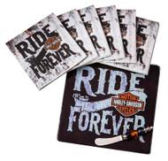 Harley-Davidson® It's A Party Gift Set, Trivet, Napkins & Spreader, P11044919