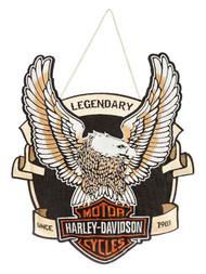 Harley-Davidson® Embroidered Up-Winged Eagle Hanging Door Decor 2DHB4907 - C