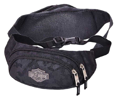 Harley-Davidson® Bar & Shield Zippered Adjustable Hip Pack, Nightvision 99212