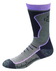 Harley-Davidson® Wolverine Women's CoolMax Crew Rider Socks, Purple D89085470-500