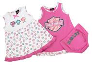 Harley-Davidson® Little Girls' Glittery 2-Pack Sundresses w/ Pant 9022611