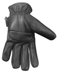 Redline Men's Gel Padded Full-Finger Leather Motorcycle Gloves, Black G-056