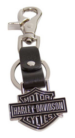 Harley-Davidson® Bar & Shield Medallion Bottle Opener Key Fob,  XFL0052-BLACK - A