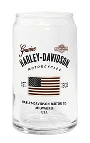 Harley-Davidson® Stars & Stripes American Flag Soda Can Glass, 16 oz. 96893-16V