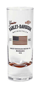 Harley-Davidson® Stars & Stripes American Flag Decal Shot Glass, 2.5 oz 96897-16V