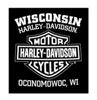 Harley-Davidson® Men's Blue Print Bar & Shield Short Sleeve T-Shirt, Black - A