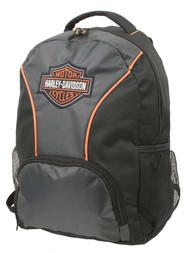 Harley-Davidson® Embroidered Bar & Shield Colorblocked Backpack, Black 7180609