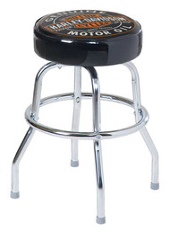 Harley-Davidson® Oil Can B&S 24 inch Premium Quality Bar Stool, Black HDL-12133