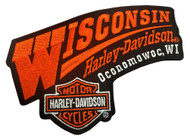 Harley-Davidson® Wisconsin Harley Embroidered Emblem Patch, 5.5 x 4 inch EMCUS03