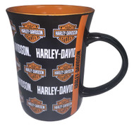 Harley-Davidson® Line Up Bar & Shield Logos Coffee Mug, 15 oz. Black HD-LIN-1258
