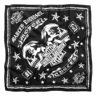 Harley-Davidson® Men's Mirrored Skull Bandana, Black 22 X 22 Inch 97617-17VM  - Wisconsin Harley-Davidson
