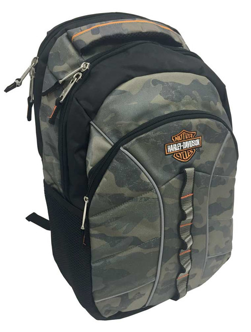 Harley-Davidson® Bar & Shield Laptop Backpack, 19.5 x 13.5 in, Camo 99913 CAMO