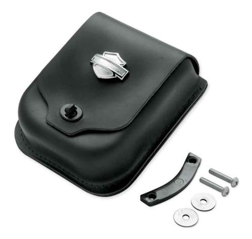 Harley-Davidson® Bar & Shield Concho Leather Sissy Bar Bag, Black 52997-98