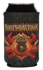 Harley-Davidson® Firefighter Original Can Flat, Black & Red Neoprene CF126581