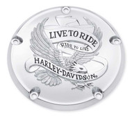 Harley-Davidson® Live to Ride Derby Cover, Fits Dyna, Softail & Etc. 25372-02A
