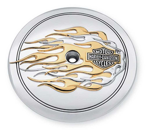 Harley-Davidson® B&S Gold Flames Air Cleaner Trim, Fit Dyna & Etc. Model 29415-99