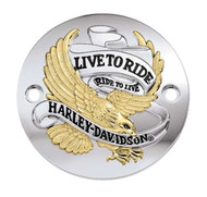 Harley-Davidson® Live to Ride Gold Timer Cover, Fits XL & XR Models 32581-90TB