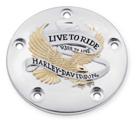 Harley-Davidson® Live to Ride Gold Timer Cover, Fits Twin-Cam Models 32689-99A