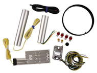 Heat Demon Motorcycle Grip Heater Kit Four-Level Controller, Chrome Right 212055