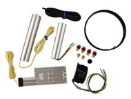 Heat Demon Motorcycle Grip Heater Kit Four-Level Controller, Black Left 211056