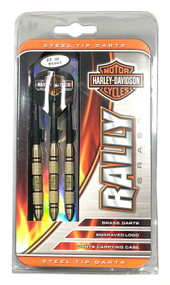 Harley-Davidson® Bar & Shield Rally Brass 22 Gram Steel Tip Darts Set 61141  - Wisconsin Harley-Davidson