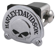 Harley-Davidson® Willie G Skull Trailer Hitch Cover, Chrome Finish, 2 Inch HDHC06