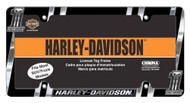 Harley-Davidson® #1 Skull Dark Custom License Plate Frame, Chrome CG42526
