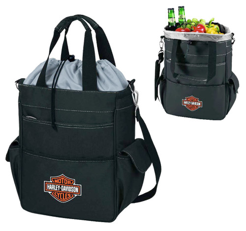 Harley-Davidson® Activo Insulated Cooler Tote, Bar & Shield Logo, Black 614-00
