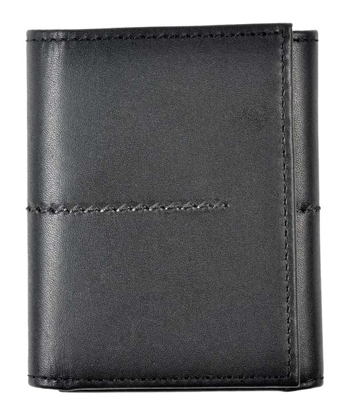 ROUT Entrepreneur Classic Tri-Fold Wallet, Full Grain Black Leather RLN30506