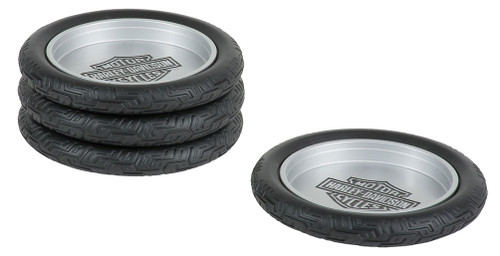 Harley-Davidson® Bar & Shield Logo Tire Coasters Set, Set of 4 HDL-18564