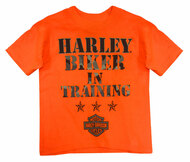 Harley-Davidson® Little Boys' H-D Biker In Training Tee, Safety Orange 1570671